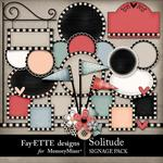 Solitude Signage Pack-$2.99 (Fayette Designs)