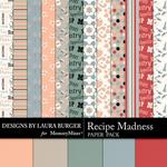 Recipe Madness Pattern Paper Pack-$3.99 (Laura Burger)