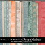 Recipe Madness Shabby Paper Pack-$3.99 (Laura Burger)
