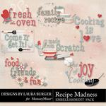 Recipe Madness WordArt-$1.25 (Laura Burger)
