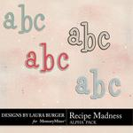 Recipe Madness Alpha Pack-$1.75 (Laura Burger)