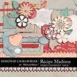Recipe Madness Regular Embellishment Pack-$3.49 (Laura Burger)
