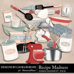 Recipe Madness Cooking Embellishment Pack-$3.49 (Laura Burger)