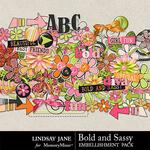 Bold and Sassy Embellishment Pack-$3.49 (Lindsay Jane)