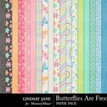 Butterflies Are Free Paper Pack-$1.75 (Lindsay Jane)