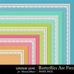 Butterflies Are Free Embossed Paper Pack-$1.00 (Lindsay Jane)