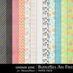 Butterflies Are Free Extra Paper Pack-$1.99 (Lindsay Jane)