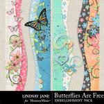 Butterflies Are Free Borders-$1.00 (Lindsay Jane)