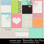 Butterflies Are Free Journal Cards-$1.00 (Lindsay Jane)