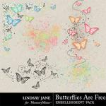 Butterflies Are Free Scatterz-$1.00 (Lindsay Jane)