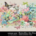 Butterflies Are Free Embellishment Pack-$3.49 (Lindsay Jane)