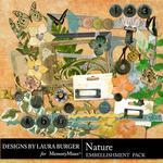 Nature Embellishment Pack-$1.75 (Laura Burger)