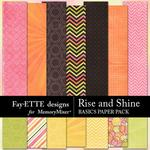 Rise and Shine Basics Paper Pack-$3.99 (Fayette Designs)