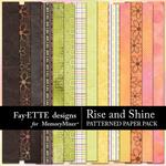 Rise and Shine Patterned Paper Pack-$2.99 (Fayette Designs)