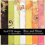 Rise and Shine Hotmess Solids Paper Pack-$3.99 (Fayette Designs)