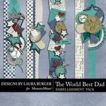 The Worlds Best Dad Borders-$2.49 (Laura Burger)