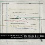 The Worlds Best Dad Stitching-$2.49 (Laura Burger)