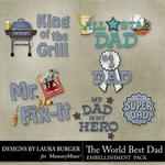 The Worlds Best Dad WordArt-$2.49 (Laura Burger)