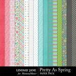 Pretty As Spring Paper Pack-$3.49 (Lindsay Jane)