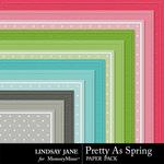 Pretty As Spring Embossed Paper Pack-$1.99 (Lindsay Jane)