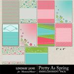 Pretty As Spring Journal Cards-$1.99 (Lindsay Jane)