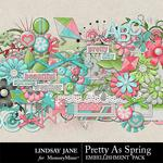 Pretty As Spring Embellishment Pack-$3.49 (Lindsay Jane)