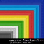 More Soccer Stars Embossed Paper Pack-$1.99 (Lindsay Jane)
