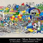 More Soccer Stars Embellishment Pack-$3.49 (Lindsay Jane)