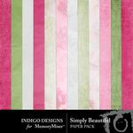 Simply Beautiful Paper Pack-$1.50 (Indigo Designs)
