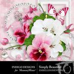 Simply Beautiful Embellishment Pack-$1.50 (Indigo Designs)