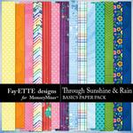 Through Sunshine and Rain Basics Papers-$3.99 (Fayette Designs)