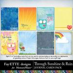 Through Sunshine and Rain Journal Cards-$1.99 (Fayette Designs)