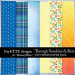 Through Sunshine and Rain Patterned Papers-$2.99 (Fayette Designs)