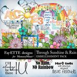 Through Sunshine and Rain Embellishments-$3.99 (Fayette Designs)