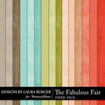 The Fabulous Fair Solid Paper Pack-$3.49 (Laura Burger)