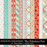 The Fabulous Fair Pattern Paper Pack-$1.99 (Laura Burger)