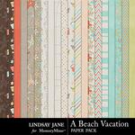 A Beach Vacation Paper Pack-$3.49 (Lindsay Jane)