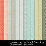 A Beach Vacation Pattern Paper Pack-$1.00 (Lindsay Jane)