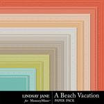 A Beach Vacation Embossed Paper Pack-$1.00 (Lindsay Jane)