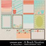 A Beach Vacation Journal Cards-$1.00 (Lindsay Jane)