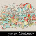 A Beach Vacation Embellishment Pack-$3.49 (Lindsay Jane)