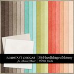 My Heart Belongs to Mommy Plain Paper Pack-$3.49 (Jumpstart Designs)