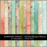 My Heart Belongs to Mommy Blends Paper Pack-$3.49 (Jumpstart Designs)