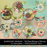 My Heart Belongs to Mommy Bloom Stacks-$2.40 (Jumpstart Designs)