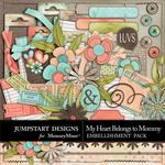 My Heart Belongs to Mommy Spare Parts-$4.49 (Jumpstart Designs)