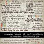 My Heart Belongs to Mommy WordArt-$2.49 (Jumpstart Designs)