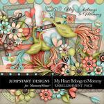 My Heart Belongs to Mommy Embellishment Pack-$5.49 (Jumpstart Designs)