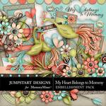 My Heart Belongs to Mommy Embellishment Pack-$5.49 (Jumpstart Designs)
