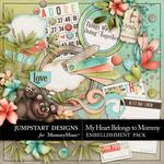 My Heart Belongs to Mommy Add On Embellishment Pac-$3.49 (Jumpstart Designs)