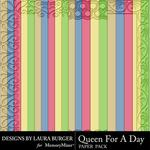 Queen For A Day Engraved Paper Pack-$3.49 (Laura Burger)